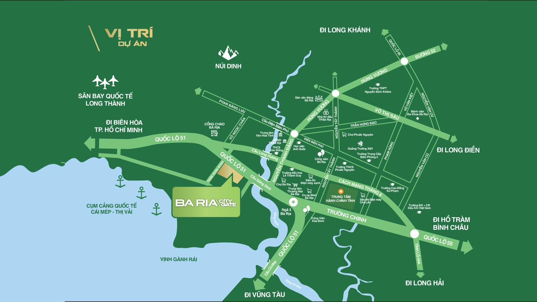Vị trí dự án Ba Ria City Gate