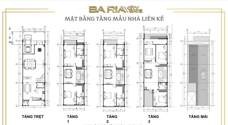Thiết kế chi tiết mẫu nhà phố Ba Ria City Gate