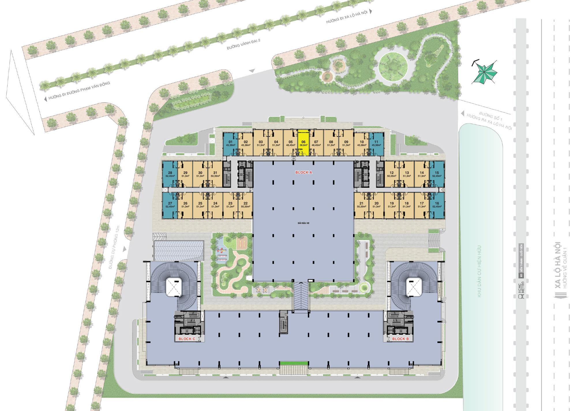 Mặt bằng tầng 1 2 dự án Lavita Charm