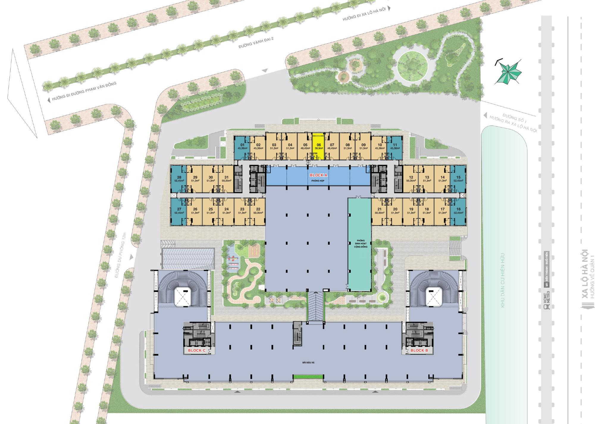 Mặt bằng tầng 3 dự án Lavita Charm