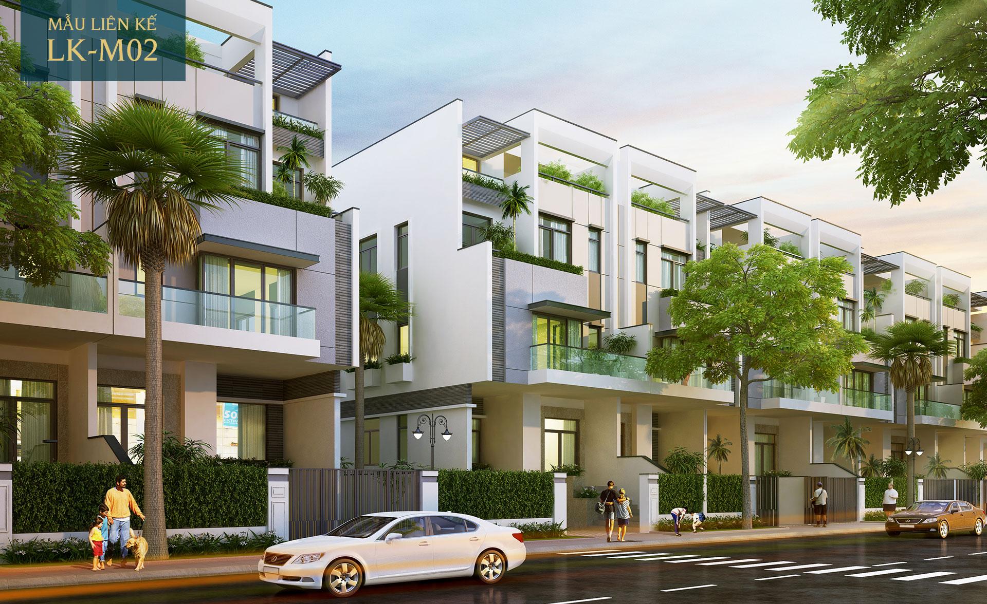 Mẫu nhà phố liên kế LK-M02 Saigon Mystery Villas Quận 2