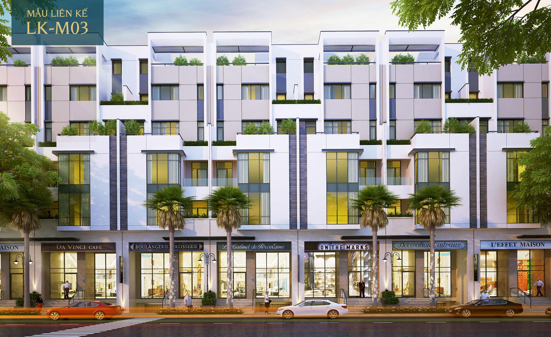 Mẫu nhà phố liên kế LK-M03 Saigon Mystery Villas Quận 2