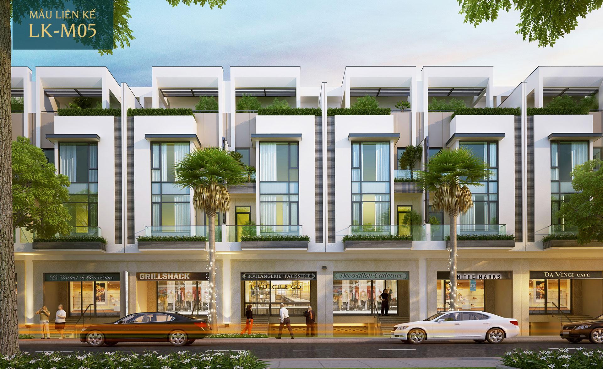 Mẫu nhà phố liên kế LK-M05 Saigon Mystery Villas Quận 2