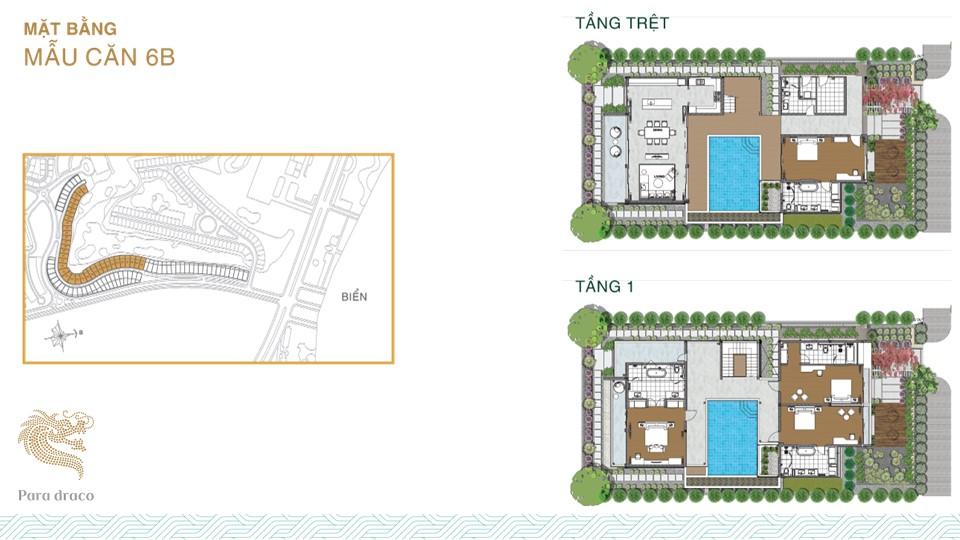 Thiết kế chi tiết mẫu biệt thự 6B Para Draco Cam Ranh