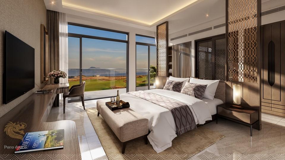 Phòng khách biêt thự Para Draco Cam Ranh