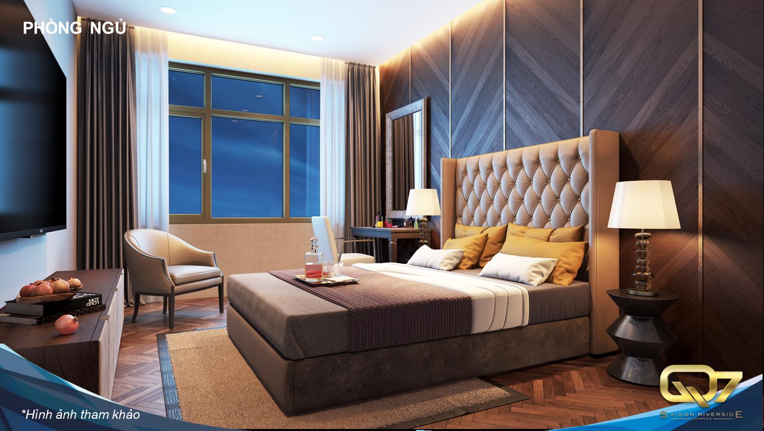 Phòng ngủ căn hộ Q7 Saigon Riverside Complex
