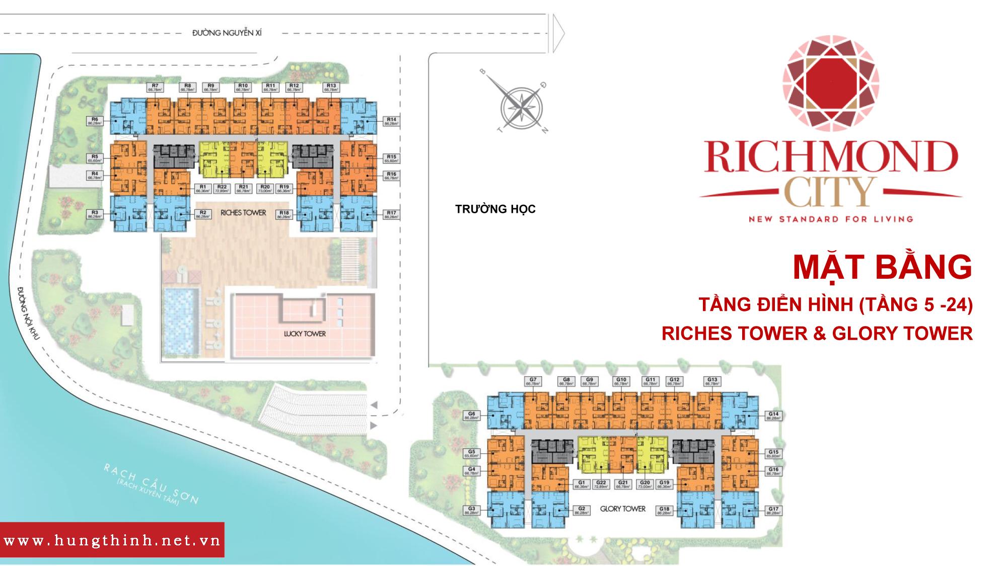 Mặt bằng căn hộ richmond city