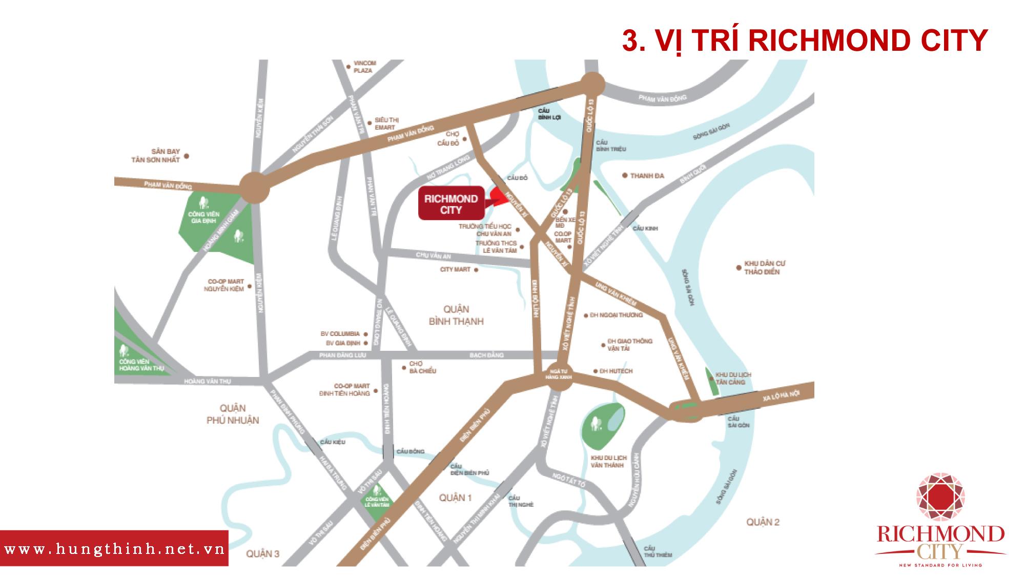 Vị trí căn hộ Richmond city