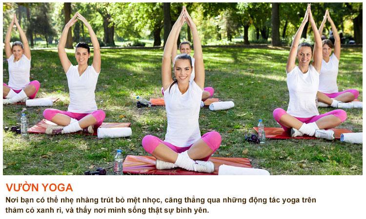 Vườn yoga căn hộ 9 view