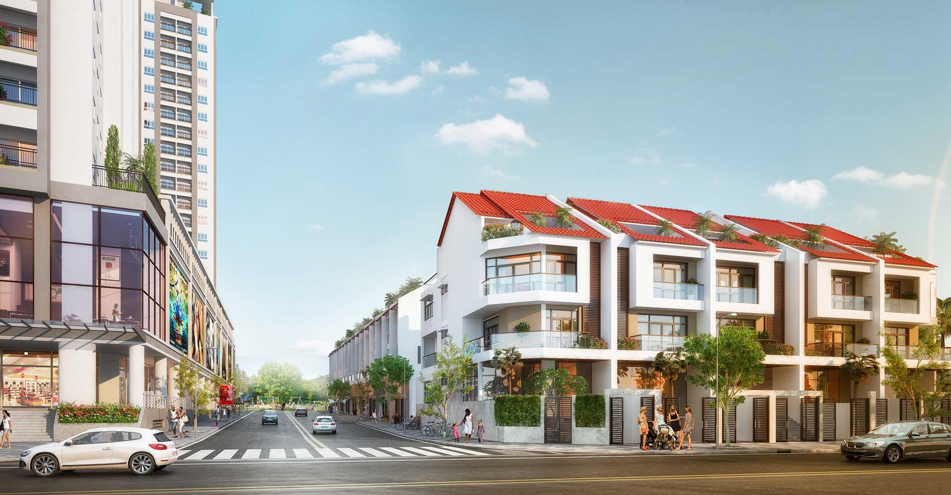 Nhà phố Moonlight Residences mặt tiền Đặng Văn Bi thuận lợi cho cư dân an cư và kinh doanh