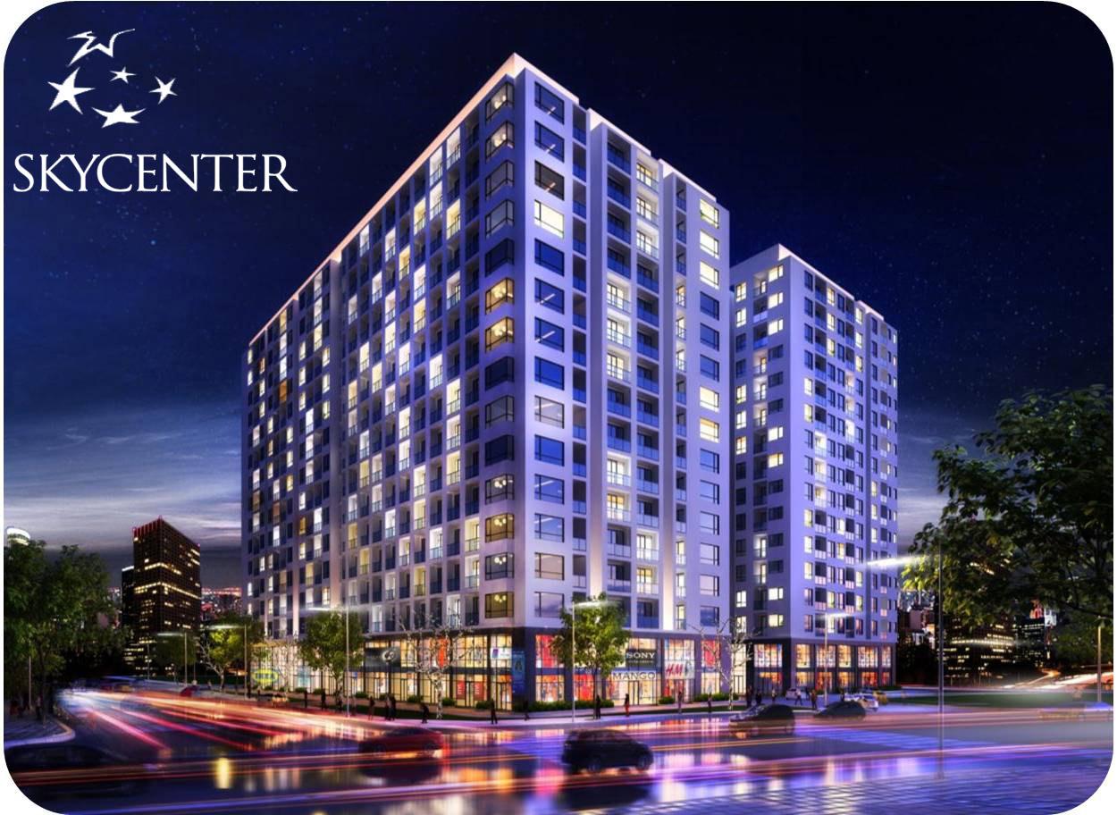 Phối cảnh tổng thể căn hộ sky center
