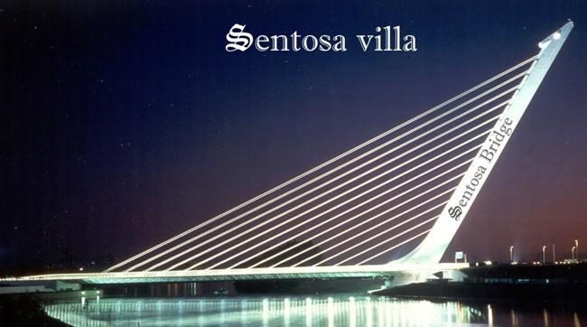 Cầu vượt biển tại Sentosa Villa